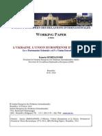 L'Ukraine, l'UE Et La Russie- Partenariat Oriental Et Union Eurasiatique (I. SEMINATORE) WORKING PAPER 6-2014