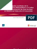 Encuesta Indecopi - Ipsos para la Determinacion de Línea de Base en Materia de Proteccion del Consumidor