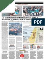La Comunidad Internacional Pide a Israelíes y Palestinos El Cese Del Fuego