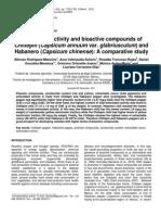 Actividad Antioxidante y Componentes Bioactivos Chiles