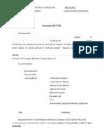 Cerere Inscriere Doctorat 2013