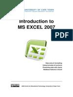 CET MS Excel 2007 Training Manual v1.1