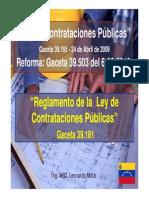 Ley Contrataciones Publicas Venezuela Red