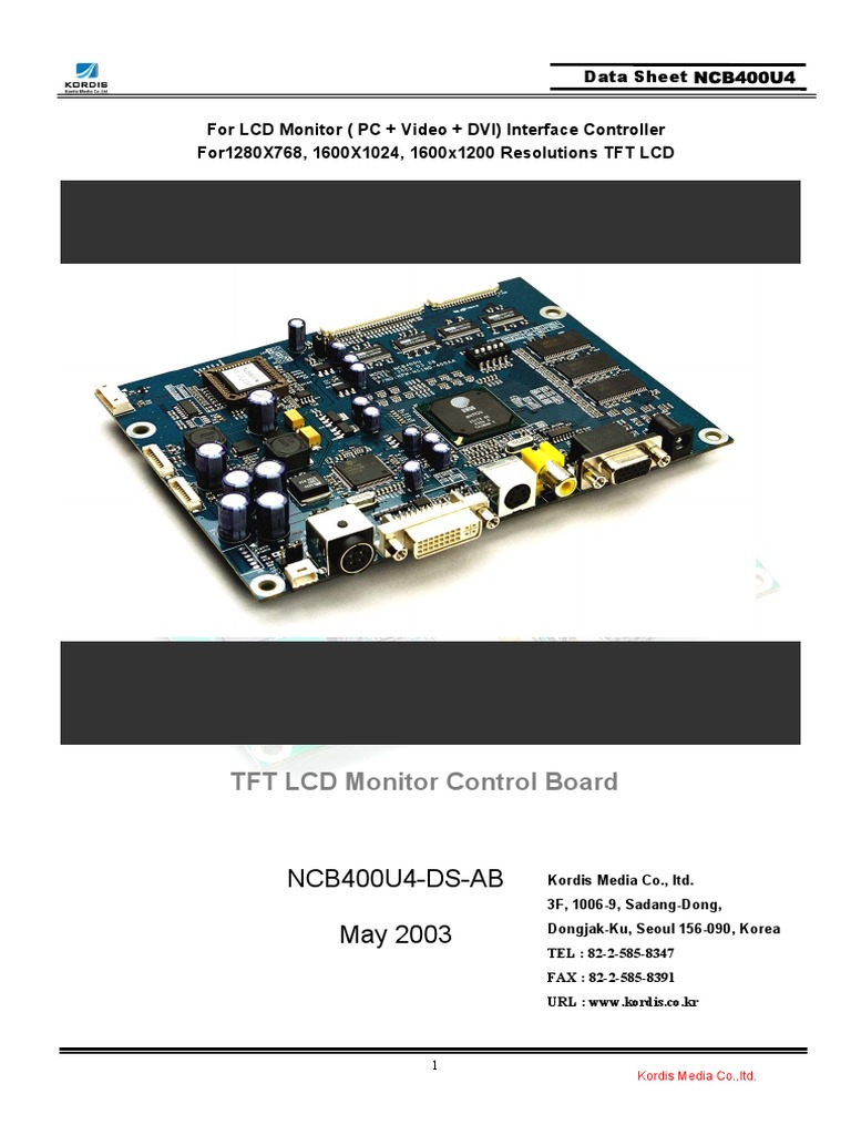 Lcd Monitor Circuit Wiring Schematic Data Asus Vw223 Power Supply And Inverter Lg Led Diagram Electrical Connector Video Types Of Monitors Source