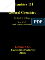 Lecture 5 & 6- Electronic Structure of Atoms