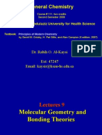 Lecture 9- Molecular Geometry and Bonding Theories