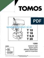 Katalog Rezervnih Delov Tomos Izven Krrmni Motor T10 T9.9 T18 T20