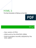 HTML 5 the Next Generation of Markup on the Web
