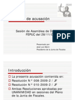 Sustento de Acusacion presentado en Asamblea FEPUC 28/11/09