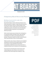 Succession Planning for Board Members