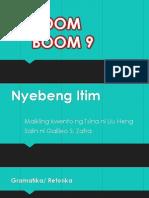 BOOM BOOM 9-Nyebeng Itim