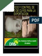 Beneficio y Control de Calidad de Cuyes Para La Exportacion
