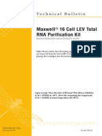 Maxwell 16 Cell LEV Total RNA Purification Kit Protocol