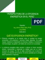Ieee Ias Unac -Perspectivas de La Eficiencia Energética en El Perú