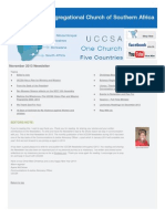 November 2013 UCCSA Newsletter
