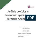 Análisis de Teoría de Colas e Invetarios Farmacias Ahumada