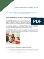 Actividades de Estimulación Cognitiva en Niños