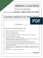 Exatus Pr 2010 Prefeitura de Arapongas Pr Agente de Vigilancia Prova