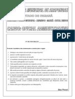 Exatus Pr 2010 Prefeitura de Arapongas Pr Oficial Administrativo Prova