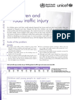 Children and Road Traffic Injury Engl