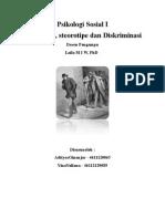Prasangka, Stereotipe Dan Dikriminasi (Makalah)