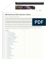 Miscellaneous D and D Collectors Guide