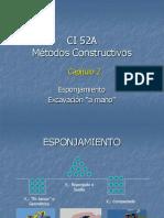 Esponjamiento y Excavacion Manual