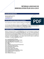 communication plan m82014
