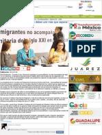 09-17-14 La atención a niños migrantes deben unir más que separar