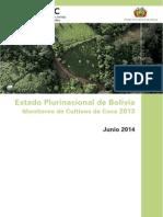 Monitoreo de Cultivos de Coca en Bolivia 2014