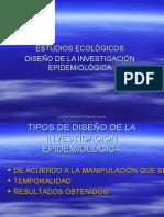 DISEÑO, ESTUDIOS ECOLÓGICOS