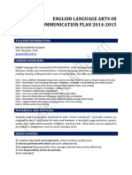 communication plan ela82014
