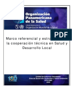 Marco de referencia de OPS, desarrollo local