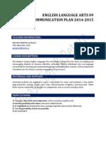 communication plan ela92014