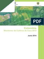 Monitoreo de Cultivos de Coca en Colombia 2014