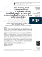 Antioxidant Activity, Total Phenolic Compounds and Flavonoids of Mangoes Coming From Biodynamic, Organic and Conventional Cultivations in Three Maturation Stages