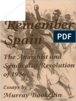 To Remember Spain - Murray Bookchin