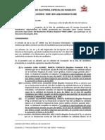 Resolución 001-2014 JEE Huancayo