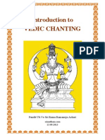 Introduction to Vedic Chanting