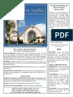 Santa Sophia Bulletin 22 Jun 2014