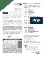 Santa Sophia Bulletin 1 Jun 2014
