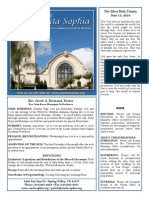 Santa Sophia Bulletin 15 Jun 2014