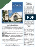 Santa Sophia Bulletin 2 Feb 2014