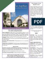 Santa Sophia Bulletin 3 Mar 2014