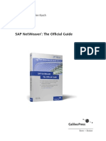 SAP NetWeaver® The Offi cial Guide