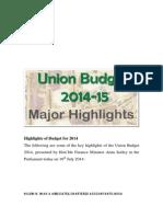 Budget 14 Analysis