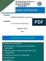 SINDROMES DISTÓNICOS