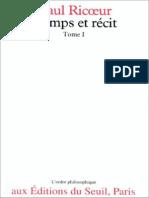 [Paul Ricoeur] Temps Et r%U00E9cit, Tome I(BookFi.org)