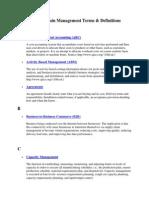 SCM terms
