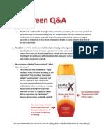 Sunscreen Q&A